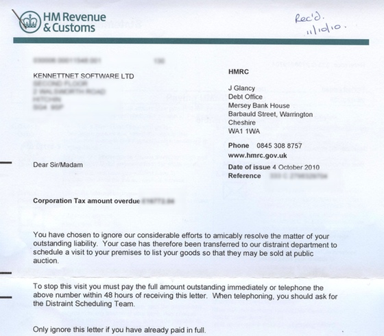 HMRC Demand